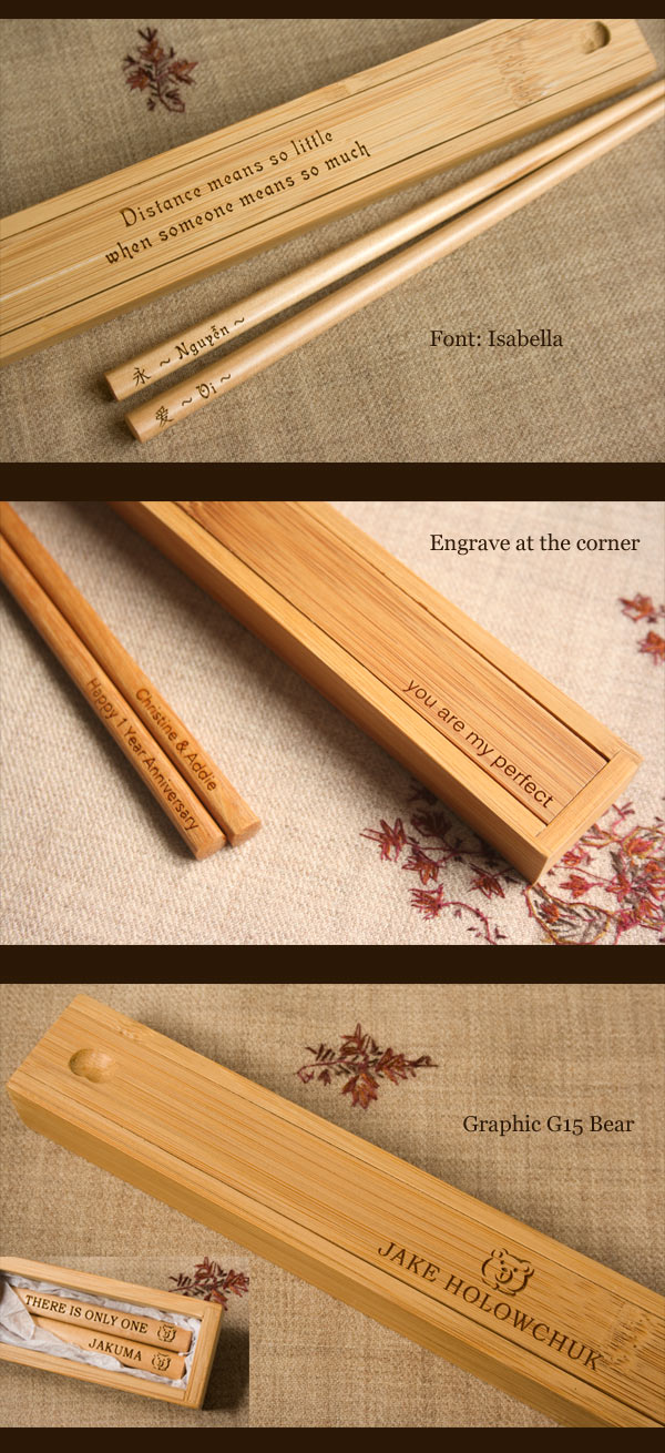 bamboo chopstick box