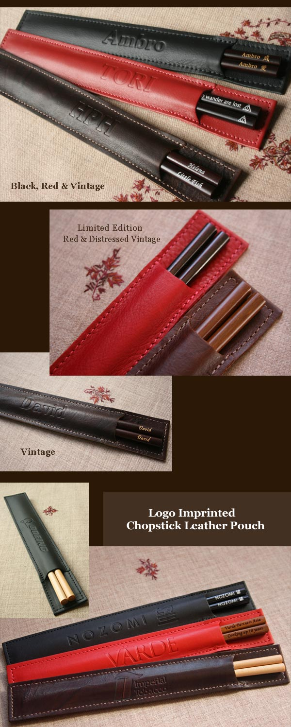 leather chopstick pouch