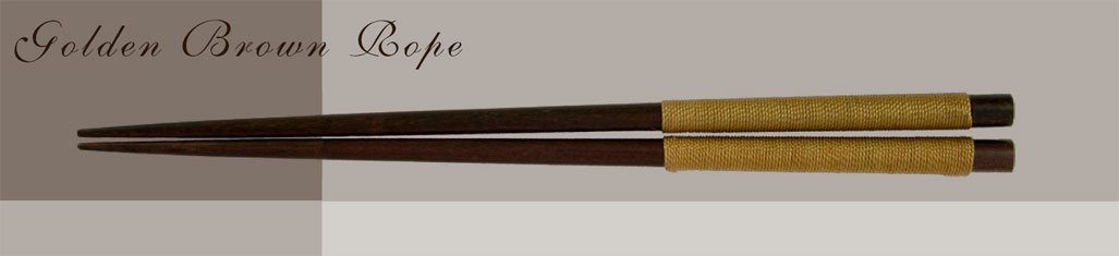 golden brown rope custom chopsticks